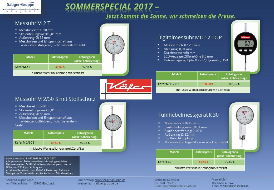 Käfer Messuhren, Digitalmessuhren, Fühlhebelmessgeräte, Kalibrierlabor Saliger-Gruppe GmbH