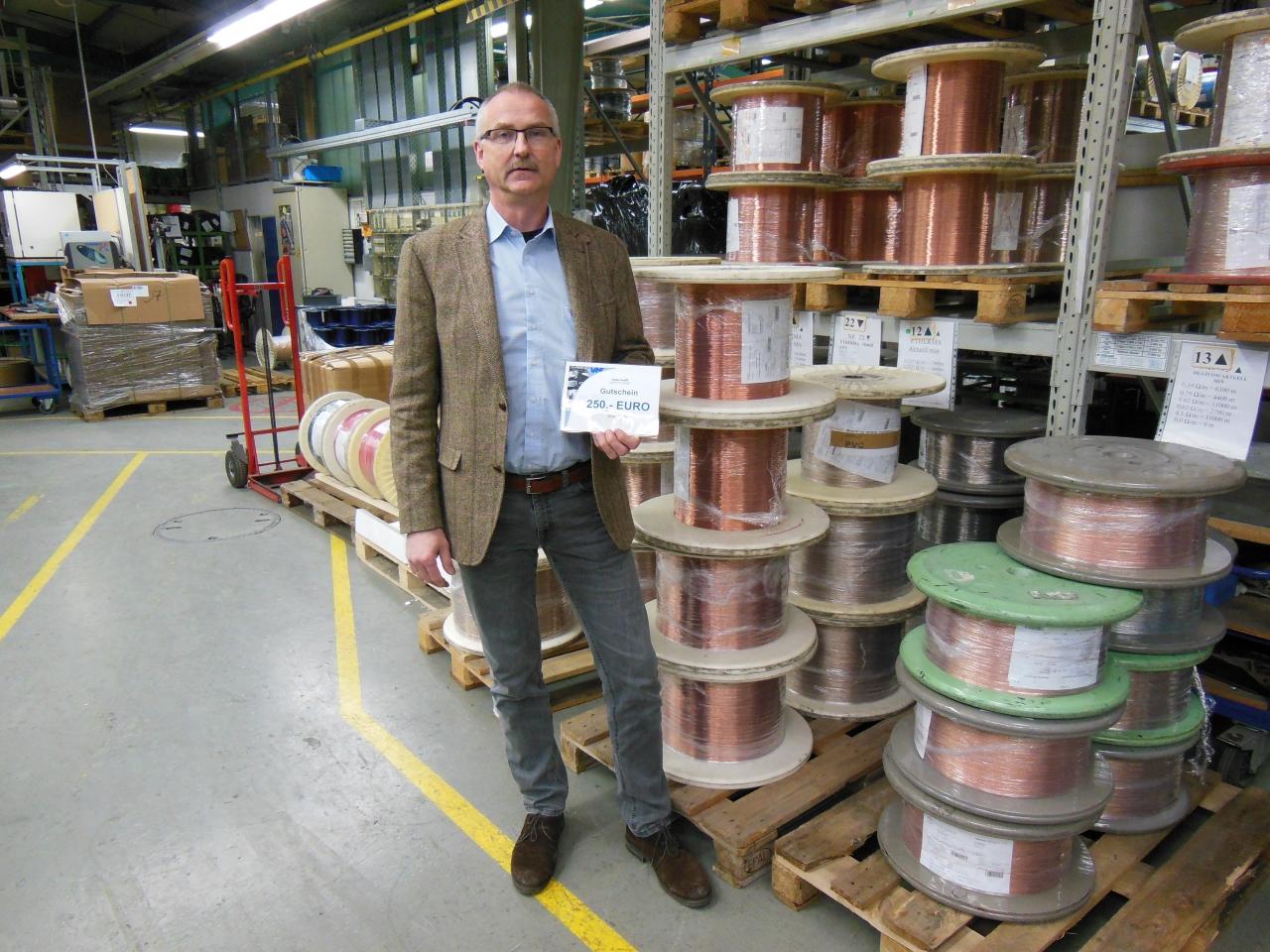 WIN-BACK Gewinner Herr Huber von der Garnisch GmbH